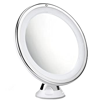 Cymas 7x Magnifying Lighted Makeup Mirror 15 Min Auto Turn Off Dimmable Daylight
