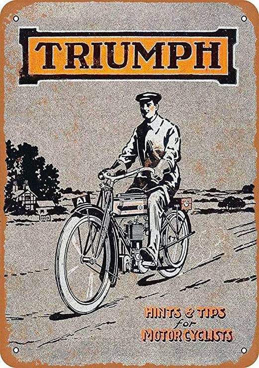 HiSign Triumph Motorcycles Retro Cartel de Chapa Coffee ...