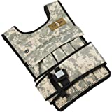 Cross101 Adjustable Camouflage Weighted Vest with Shoulder Pads