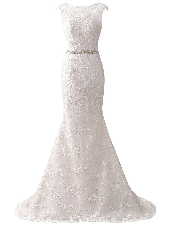 Großartig Kappenhülse Ein Hochzeitskleid Linie Zeitgenössisch ...
