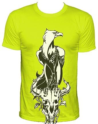 NEON Herren T-Shirt Adler auf Tierschädel  Amazon.de  Bekleidung 06af09a275