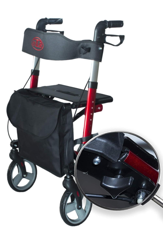 Antar 14651 Premium Andador de aluminio set, ligero de viaje ...
