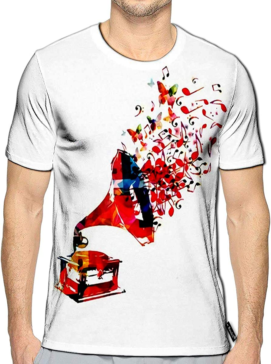 Randell 3D Printed T-Shirts Gerberas Barberton Dais Short Sleeve Tops Tees