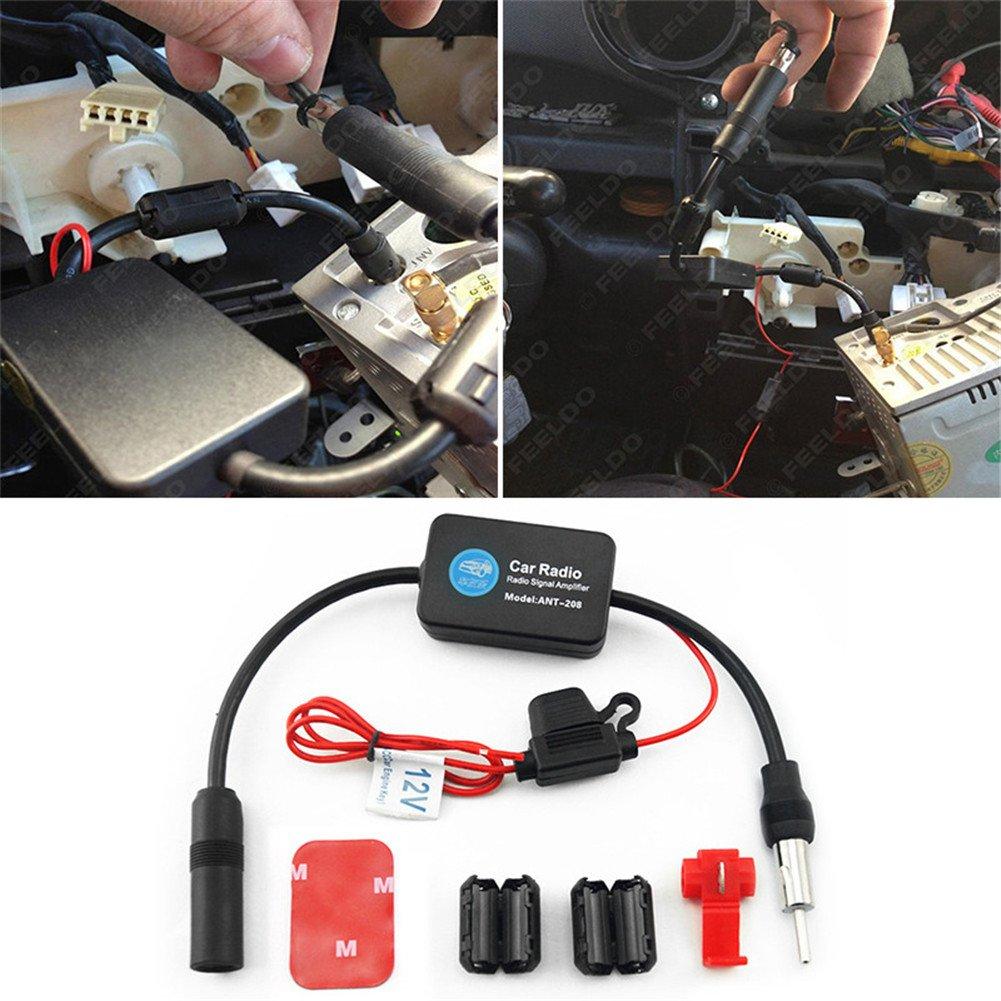 favourall universal Auto del Automóvil Arial Radio AM/FM de señal 12V Antena Amplificador Booster para vehículo coche radio Auto Radio