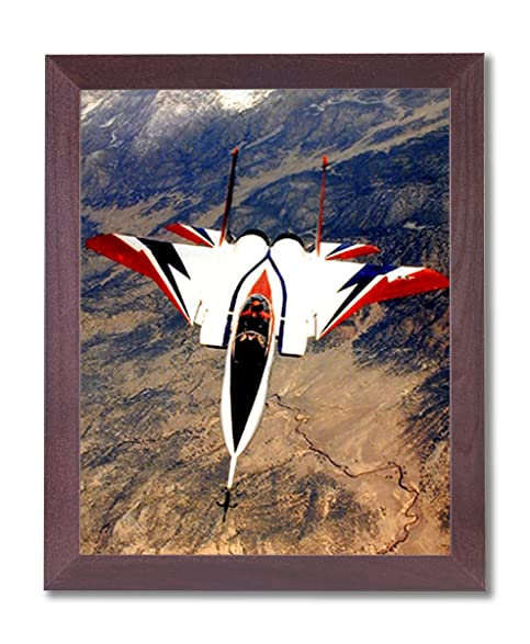 Amazon.com: F-15 Fighter Jet Airplane Wall Picture Framed Art Print ...