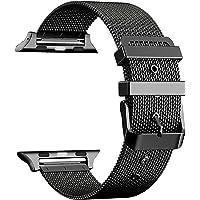 Apple Watch İçin 42-44 MM Siyah Metal Hasır Kordon (42 MM)