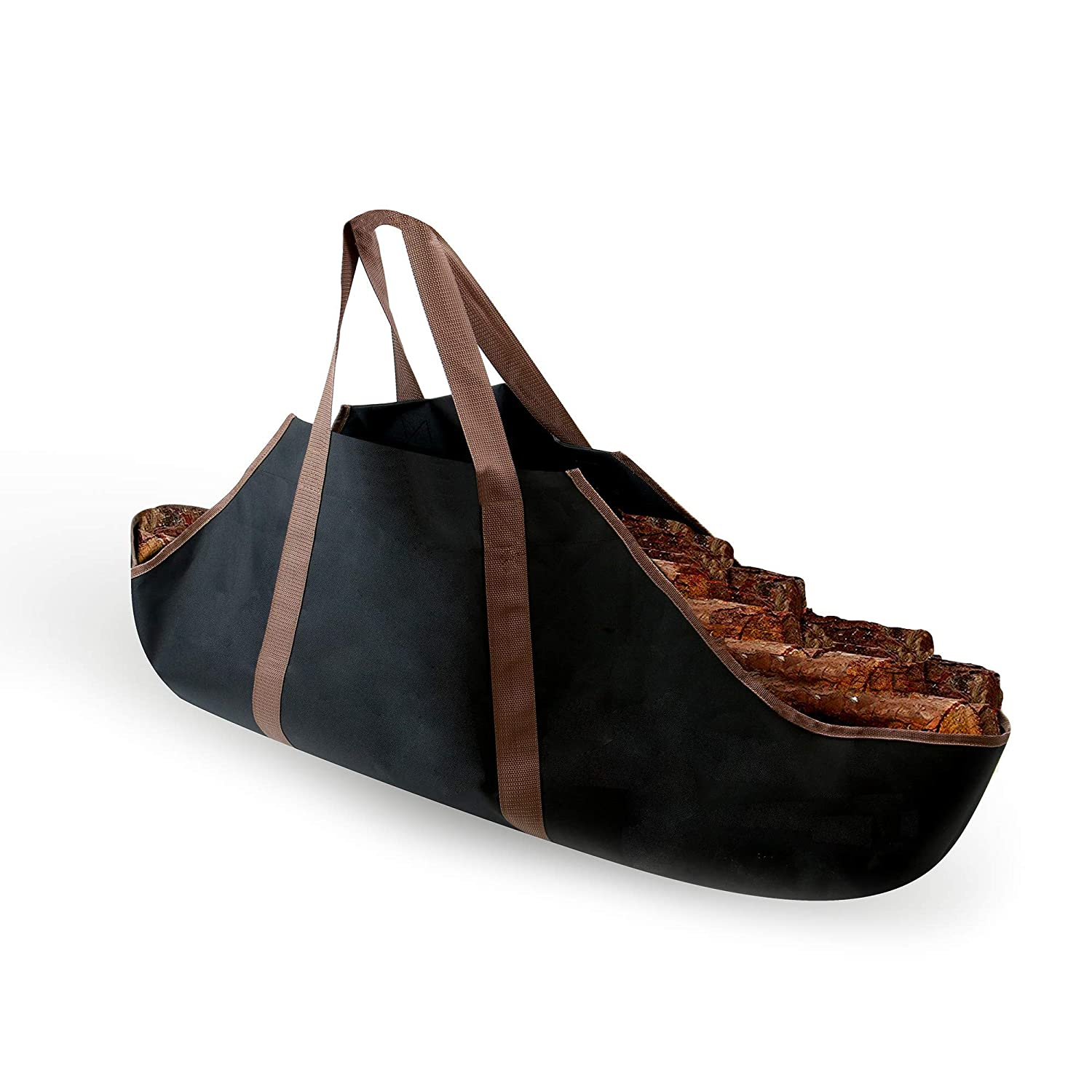 Firewood Tote Highly Durable Water /& Dirt Resistant Heavy Duty Canvas Log /& Firewood Bag M/&W Wood Log Carrier