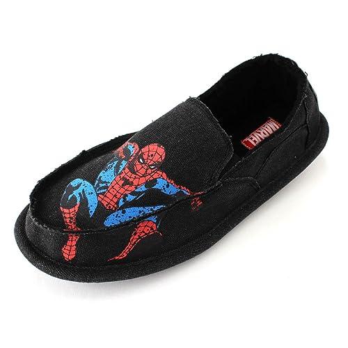 Marvel para hombre envejecido Zapatillas de andar por casa: Amazon.es: Ropa y accesorios