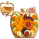 Dried Fruit Gift Basket – Healthy Gourmet Snack Box - Holiday Food Tray - Variety Snacks - Great for Birthday, Sympathy, East