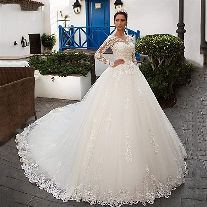 Abiti Da Sposa Romantici.Hin Gu Wedding Dress Vestito Da Sposa Abito Da Ballo Sexy A