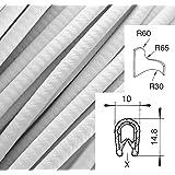 weiß. 1-2 mm 5m Kantenschutz Klemmber Keder Kantenschutzprofil PVC