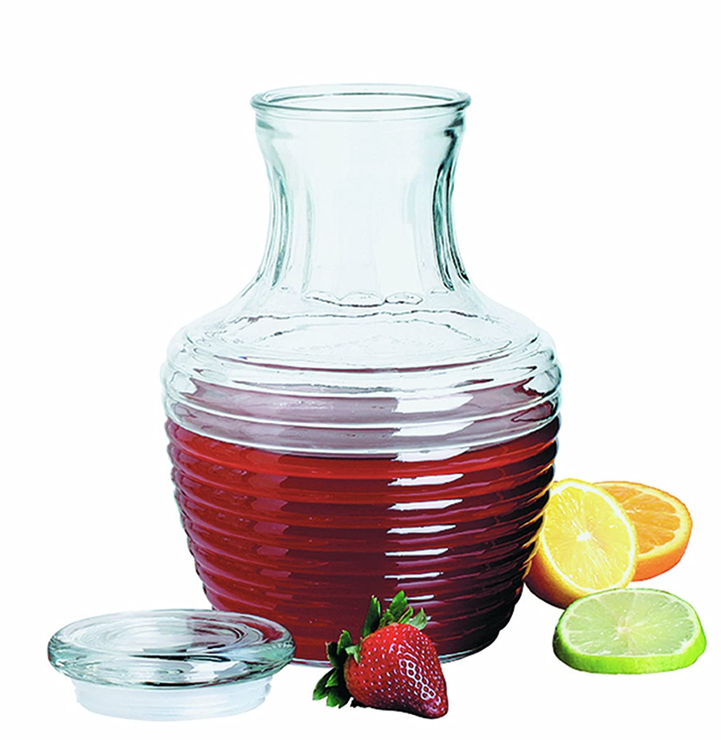 amazoncom  anchor hocking  chiller glass pitcher with lid  - amazoncom  anchor hocking  chiller glass pitcher with lid ounceglass gallon pitcher with lid bar cocktail  wine glasses