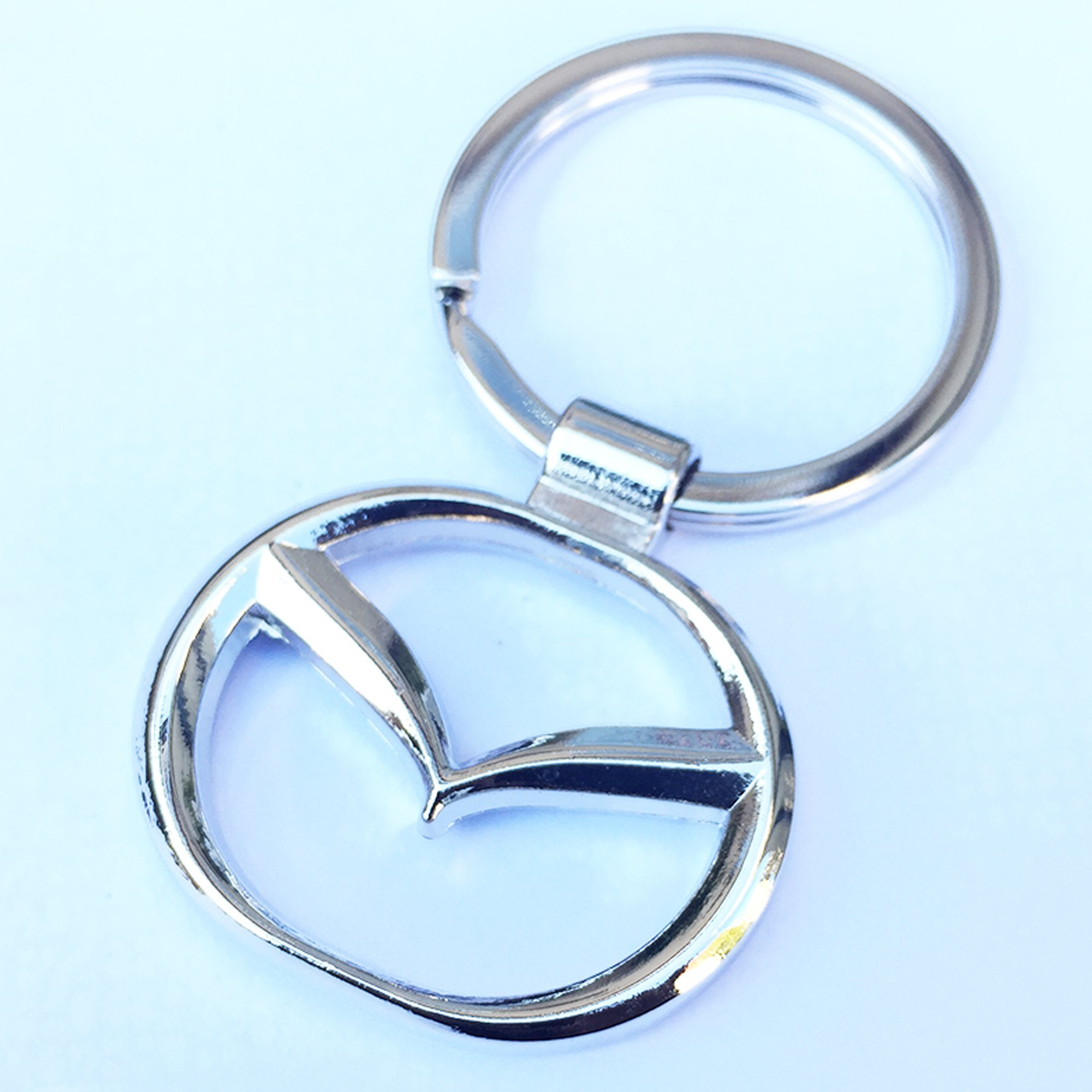 Mazda Logo Chrome Metal  Auto Key Chain