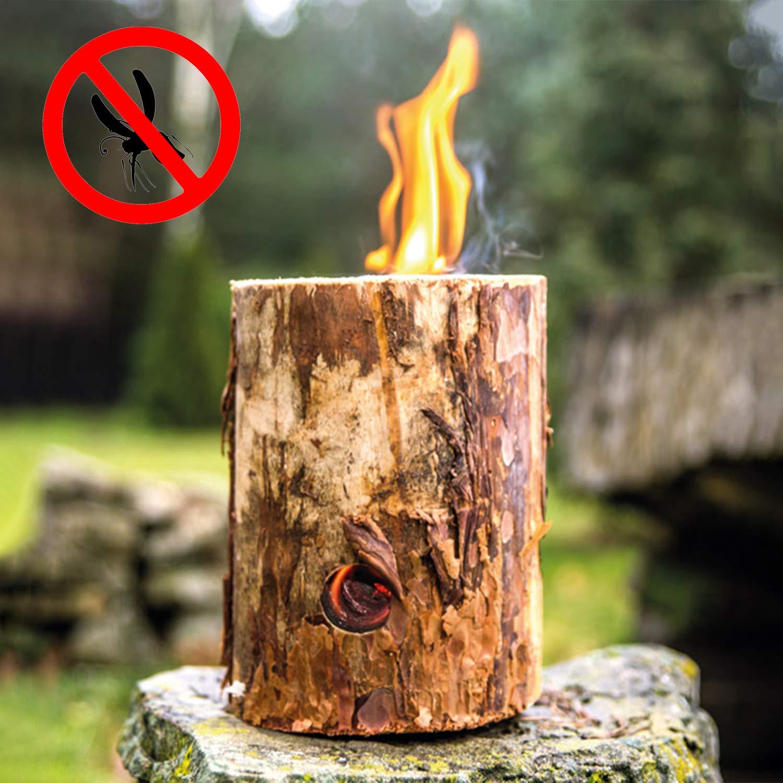 antorcha aletada para cocinar al Aire Libre antorcha de /árbol antorcha de jard/ín com-four/® Suecia Fuego con Mecha de Encendido