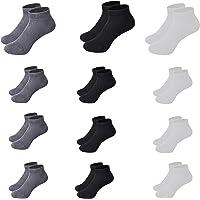 1s1k Calcetines Cortos Tobilleros 12 Pares Hombre y Mujer Invisible Talla 40/46 Deporte o Casual