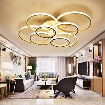 Weiting Lampe À Moderne Super Rings Mince Circle Lustre Plafonnier 8nmN0w