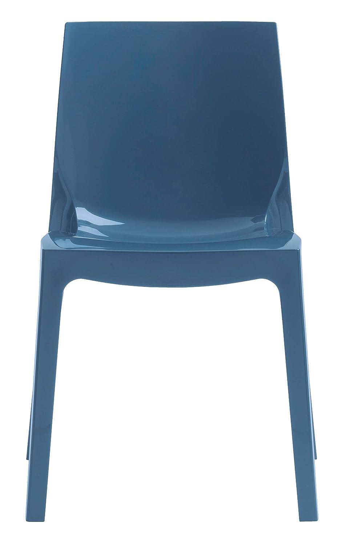 Sedia da cucina ice moderna colore blu avio novita 39 2015 for Sedie blu cucina