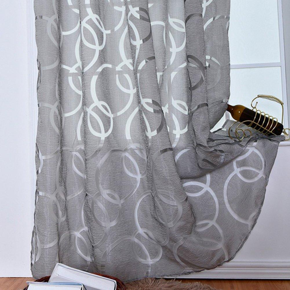 Cortinas opacas para ventana, flores cortinas con círculo burbujas cortadas ventana pantalla para cocina sala de estar, 1, Tamaño libre UxradG