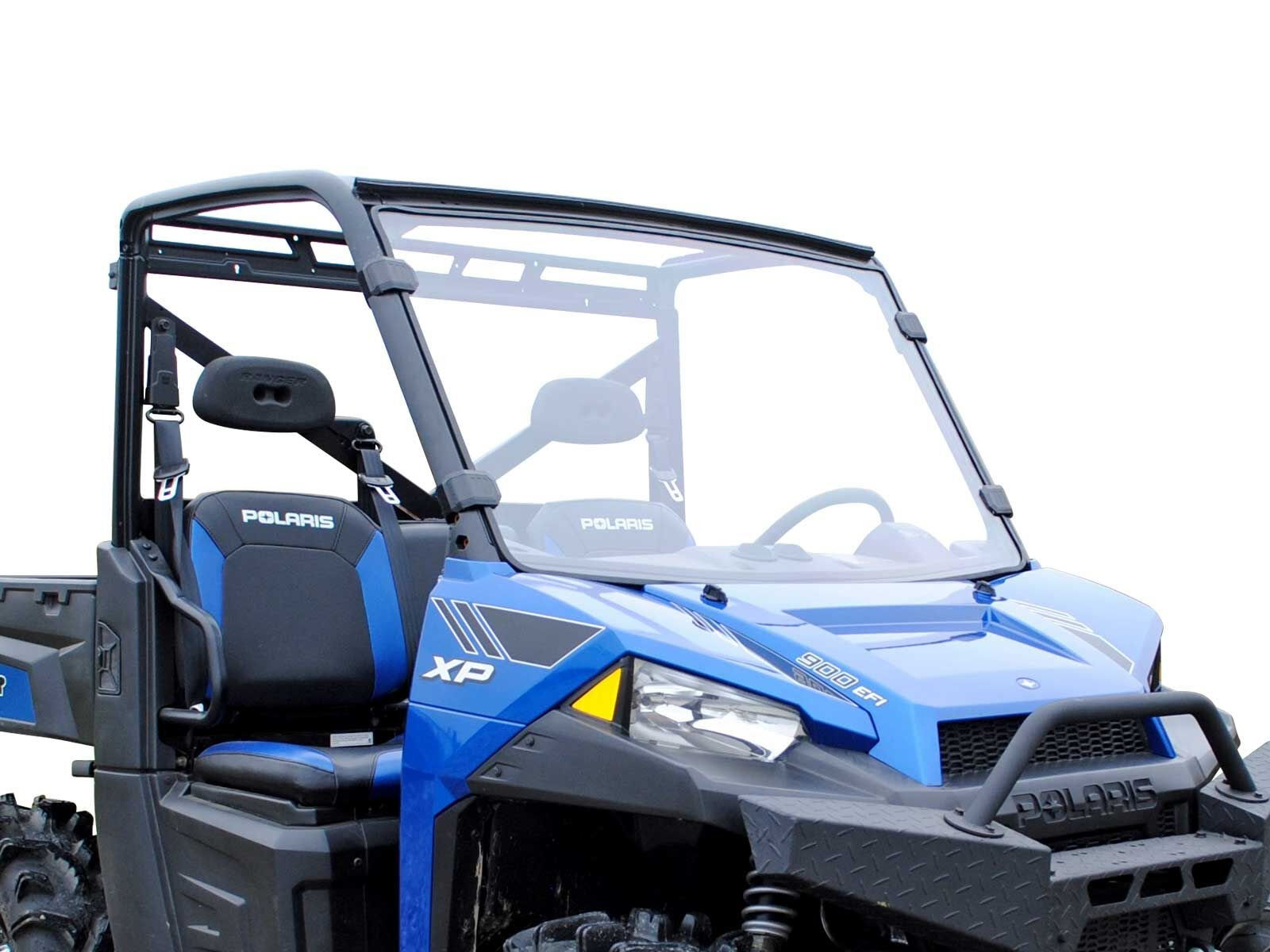 SuperATV Polaris Ranger Fullsize XP 570 / 570 / 900 / 900 Crew / 1000 Full Windshield (Clear, Standard)