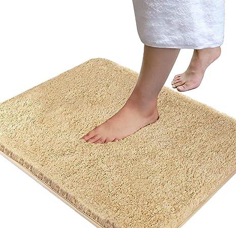Fashion Soft Shaggy Bath Mat Non-slip Bathroom Rug Microfiber Floor Mat 40*60cm