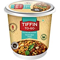 TIFFIN-TO-GO Vegetable Poha Light Comfort Dish Made with Flattened Rice and Natural Dehydrated Ingredients