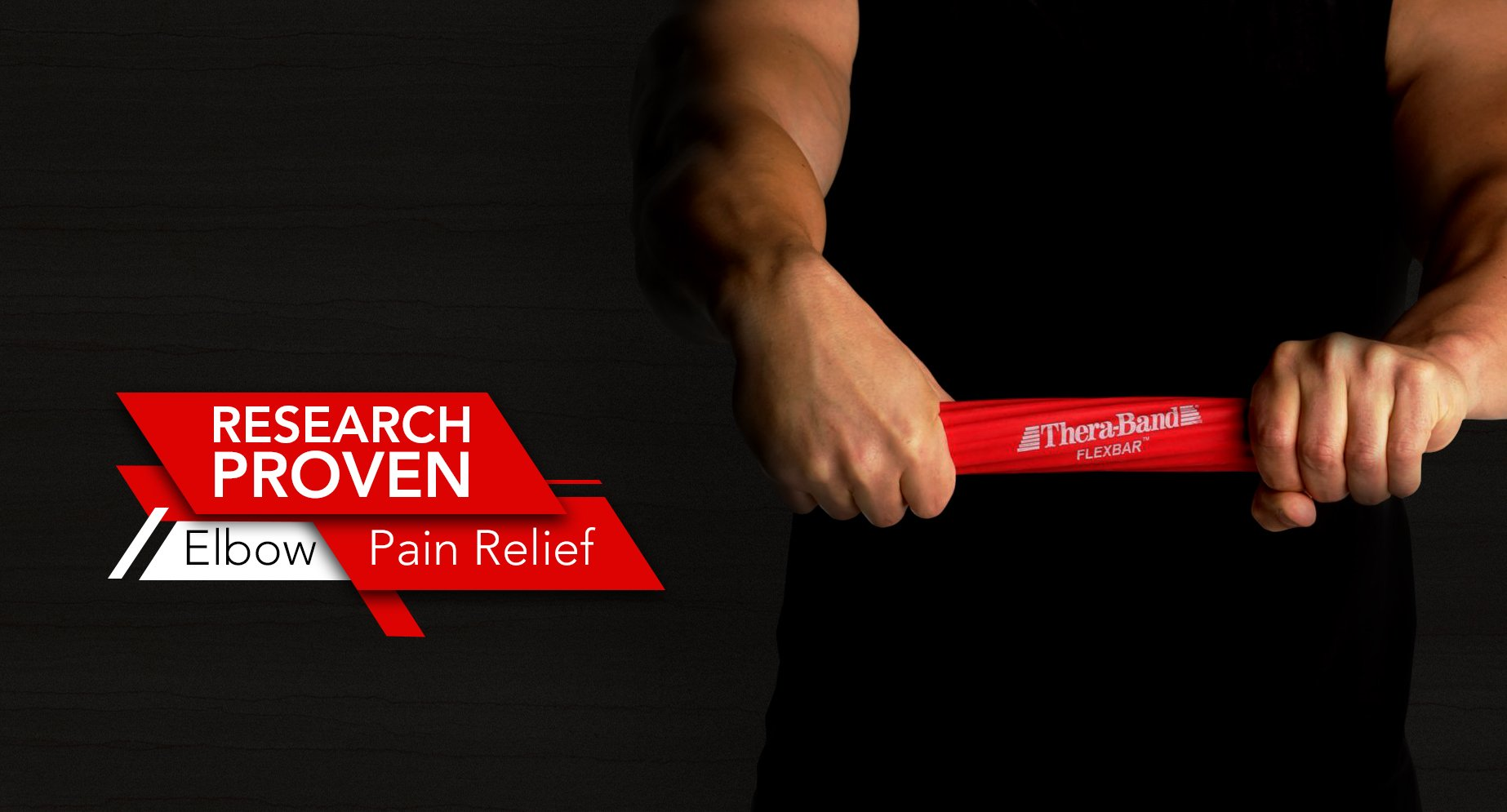 TheraBand FlexBar, Tennis Elbow Therapy Bar, Relieve Tendonitis Pain & Improve Grip Strength, Resistance Bar for Golfers Elbow & Tendinitis, Red, Light, Beginner by TheraBand (Image #2)