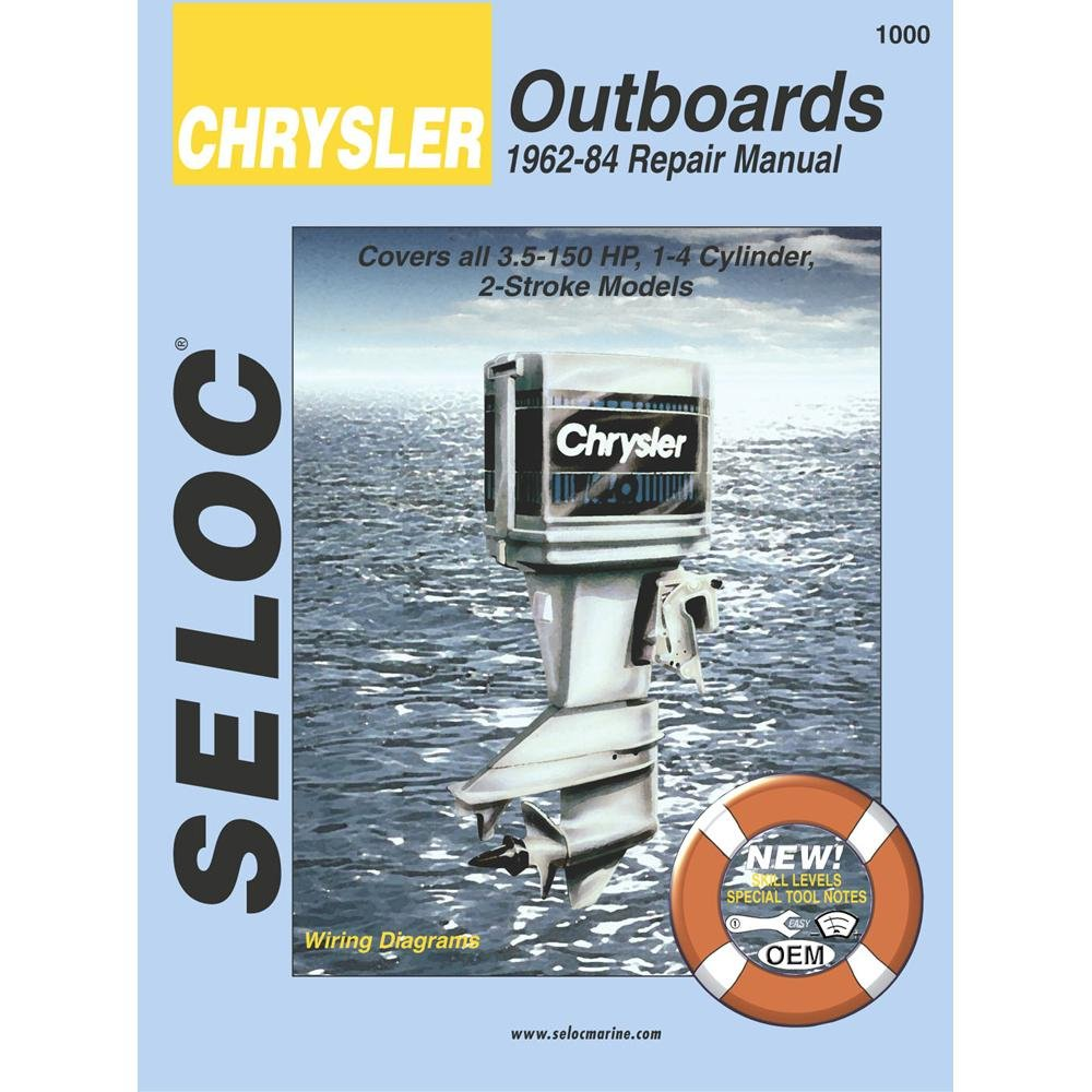 Chrysler Outboards 1962 1984 35 150 Hp Engine Repair Diagrams Manual Outboard Motors Sports Outdoors