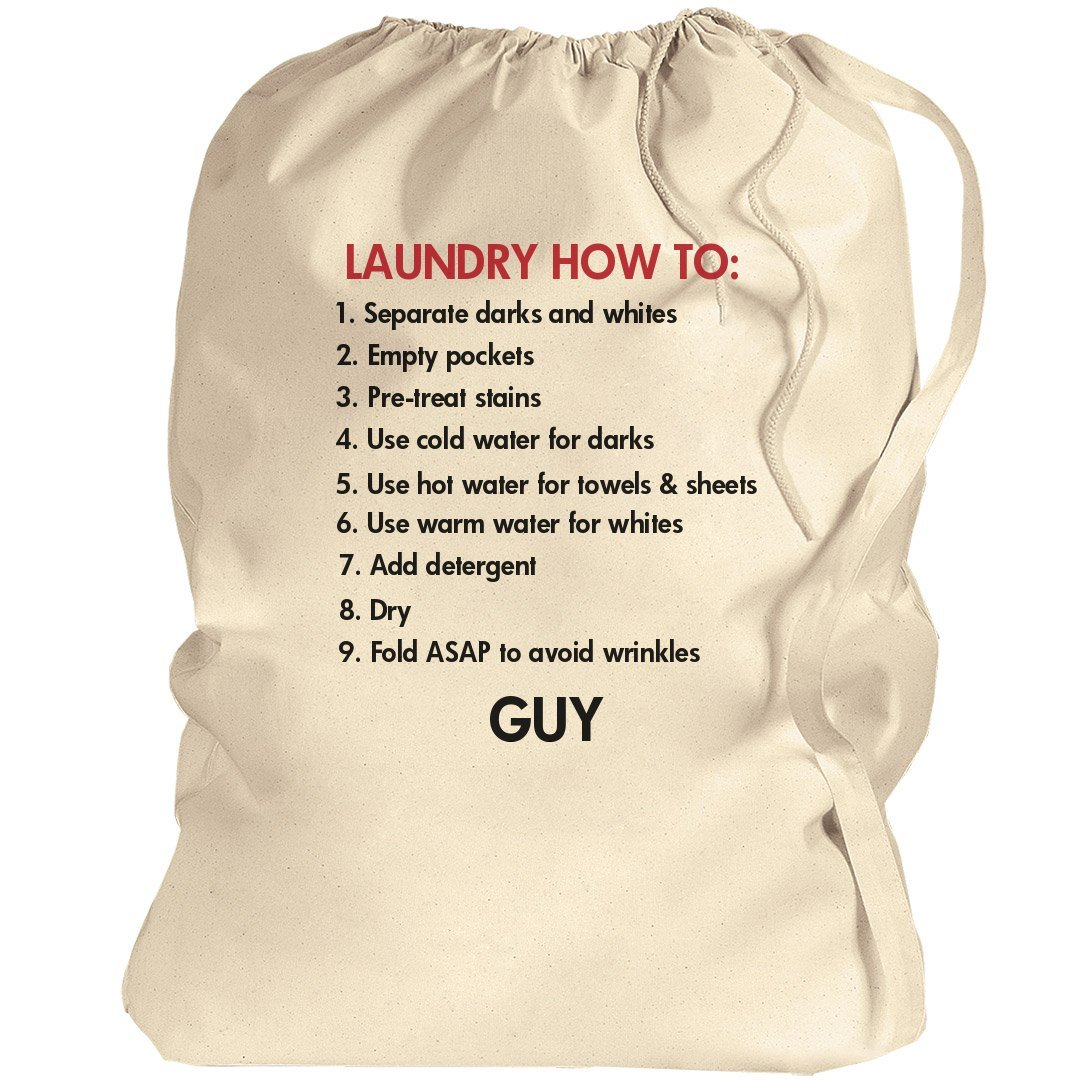 Laundry How To College Gift Guy: Canvas Laundry Bag