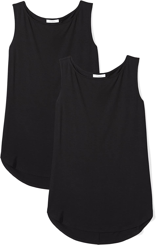 Brand - Daily Ritual Women's Jersey Bateau-Neck Tank Top: Clothing