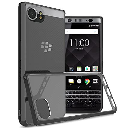 nuovo di zecca b28fc 60a4f BlackBerry KEYone Case, CoverON [ClearGuard Series] Hard Clear Back Cover  with Flexible TPU Bumpers Slim Fit Phone Cover Case for BlackBerry KEYone -  ...