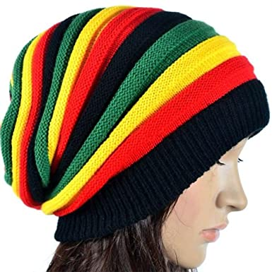 Amazon.com  beBettform Sale Hop Ski Men Cap Unisex Winter Warm Stripe  Knitted Hat Beanie  Clothing 9875688a4