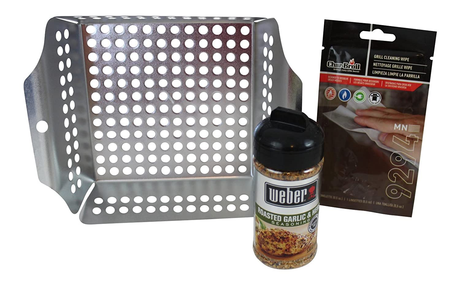 Amazon.com : 3 Piece Grilling Bundle- Includes Grilling Tray ...