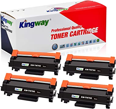 Compatible 4 x TN760 Black Toner for Brother HL-L2390DW HL-L2395DW MFC-L2710DW