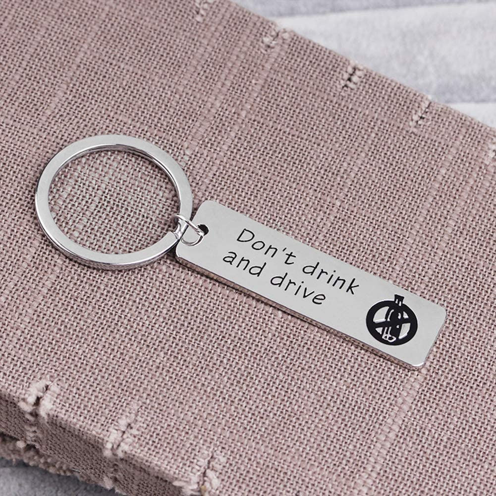 potato001 Dont Drink And Drive Letter Tag Car Keychain Key Ring Holder Couple Lovers Gift