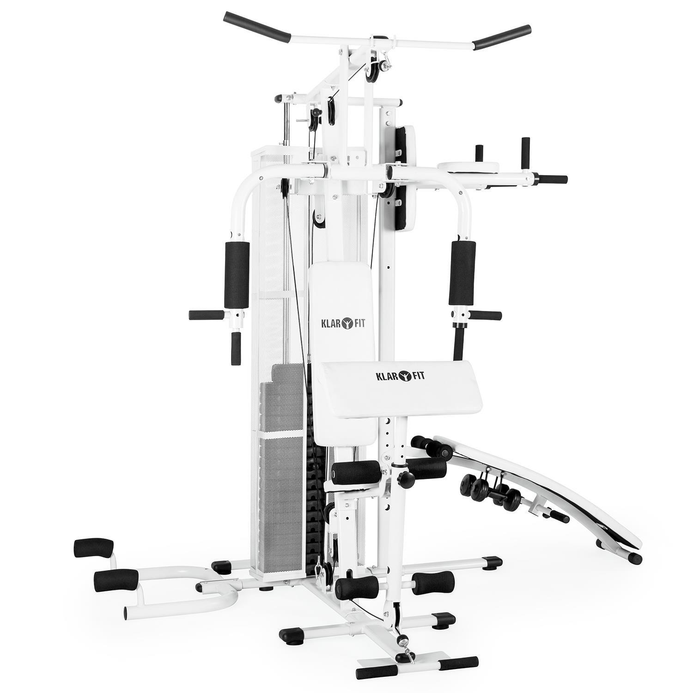 Klarfit Ultimate Gym 5000 • Unidad de musculación • Entrenador de casa • Unidad de entrenamiento • Estación de fitness multifuncional • Para más de 50 ...