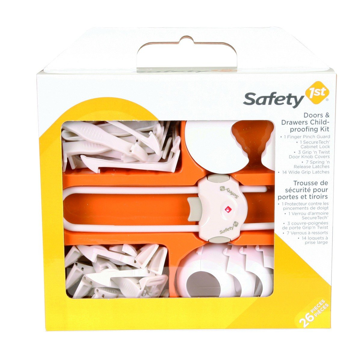 Safety1st - Doors and Drawers Childproofing Kit - 26 Pieces, White Dorel Juvenile Canada 48461