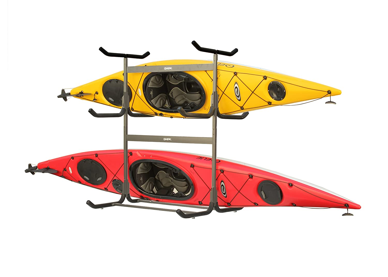 Amazon.com : Stoneman Sports G 535 C4 Glacik Freestanding Portable 5 Kayak  Or Canoe Storage Rack With Heavy Duty Caster Wheels, Double Sided, Bronze  Colored ...