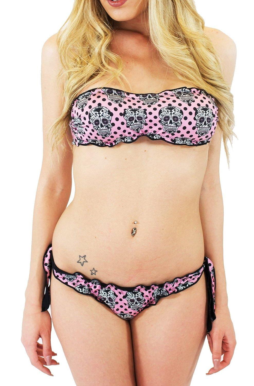 CALAVERA Pois - Bikini gepolsterte Kopfbügel und Slip 100% in Italien neue Kollektion 2015 Millennium Star gemacht