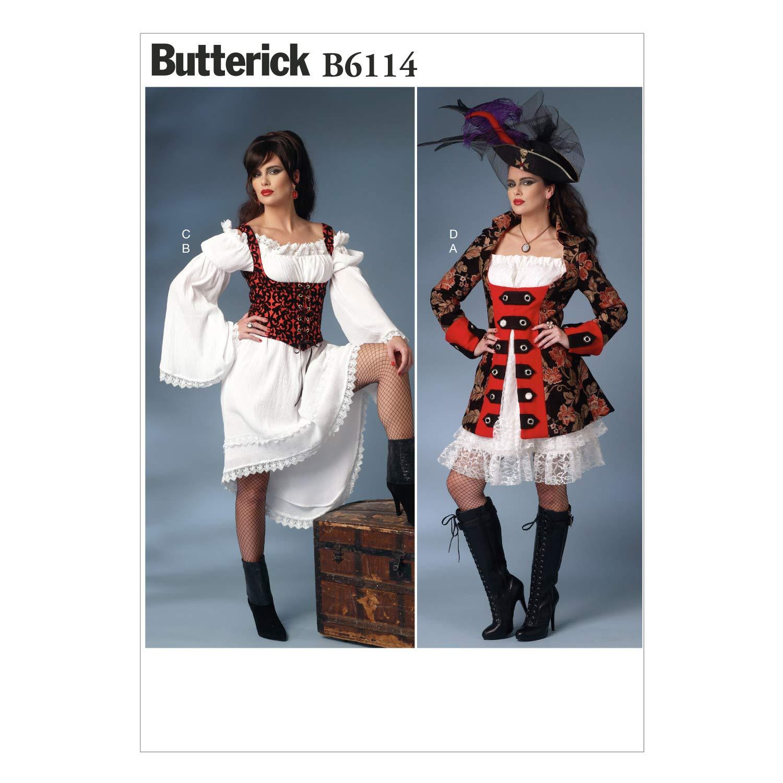 Butterick Patterns 6114 A5 - Cartamodello per costumi da donna, taglie: UK 6-8 - 10-12 - 14 (EU 40-48) The McCall Pattern Company B6114A50