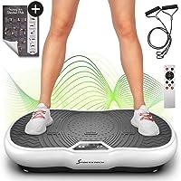 Sportstech Pedana Vibrante VP200 con Bluetooth, Tecnologia innovativa di Oscillazione e Vibrazione per l'utilizzo a casa, Poster di Allenamento, 2 Elastici, Telecomando e Altoparlante nel Dispositivo (Ricondizionato)
