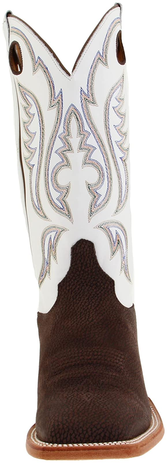 Justin Boots Men's U.S.A. Chocolate Bisonte/White Classic - 4