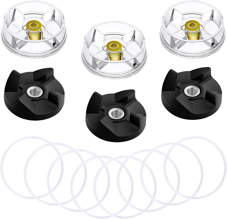 Honoson 6 Pieces Blender Base Gears 8 Pieces Gaskets Parts Replacement Parts Compatible with Bullet 250W Blender