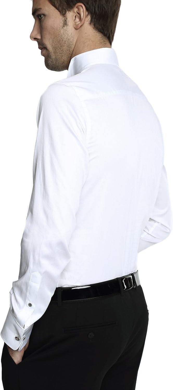 Caramelo, Camisa Ceremonia Slim Cuello Pajarita, Hombre · Blanco Optico, Talla 58: Amazon.es: Ropa y accesorios