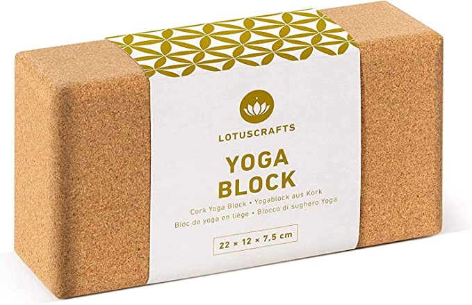 for Yoga and Pilates for Beginners and Intermediates 2 Pieces WTTX Cork Wood Yoga Block High Density Support Floats 24 x 16 x 8.8 cm Yoga Brick