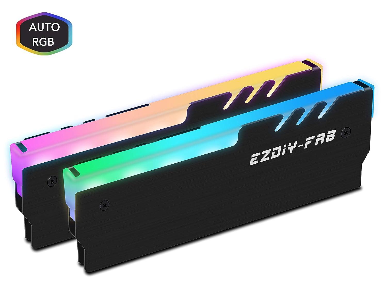 EZDIY-FAB RGB DDR Memoria RAM Refrigerador Enfriador Disipador de ...