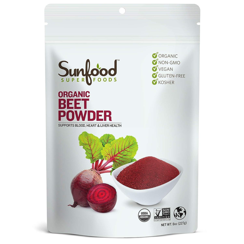 Sunfood Superfoods Beet Powder- 100% Pure Organic. 8 oz Bag