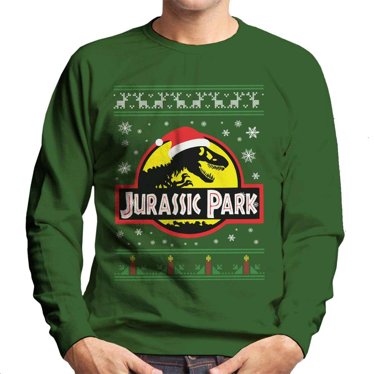 Jurassic Park Christmas Knit Men's Sweatshirt