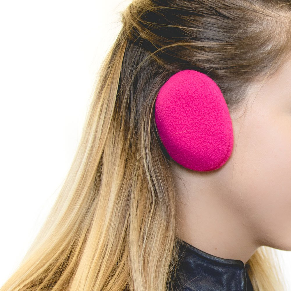 Sprigs Earbags Bandless Ear Warmers/Fleece Earmuffs with Thinsulate - Pink, Small