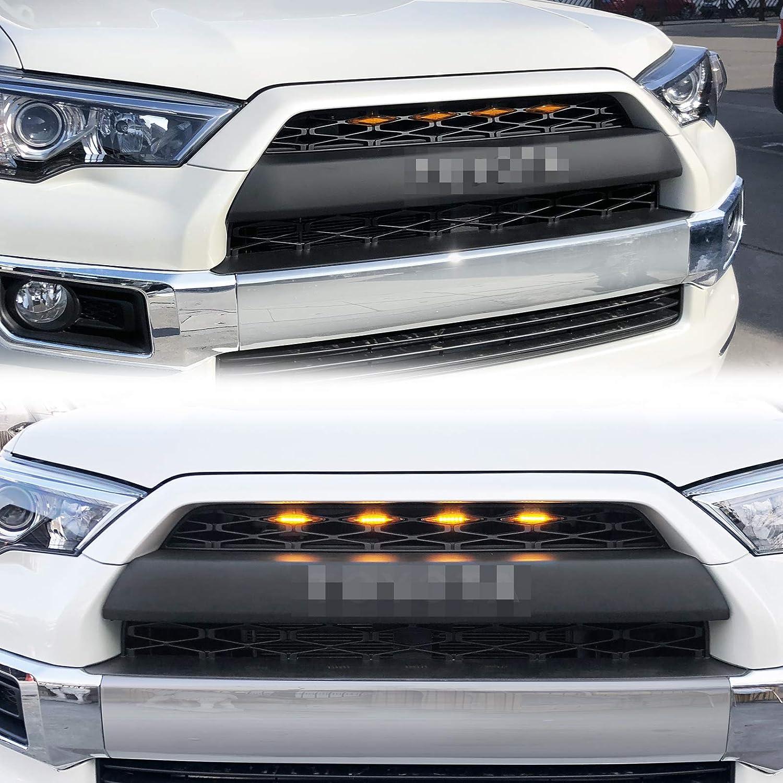 VZ4X4 Grill Amber Light Fit for 4Runner TRD Pro Grille 2014 2015 2016 2017 2018 2019 4 Pcs LED Lights Haitzu