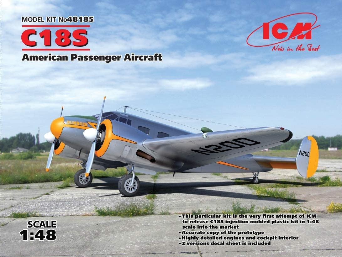 ICM 48185-1:48 C18S,American Passenger Aircraft Neu